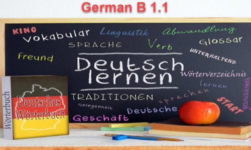 German Language – Level B1.1