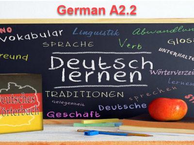 German Language – Level A2.2
